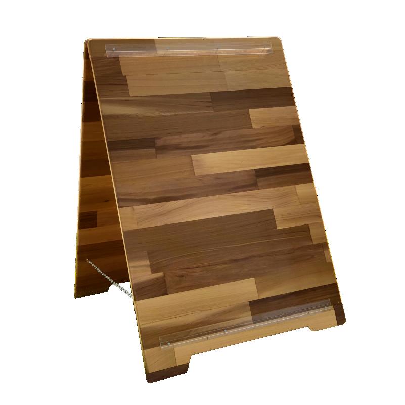 Cedar wood sandwich boards banff sign company