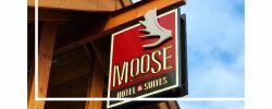 Moose Hotel Custom Sign with foam antler addition